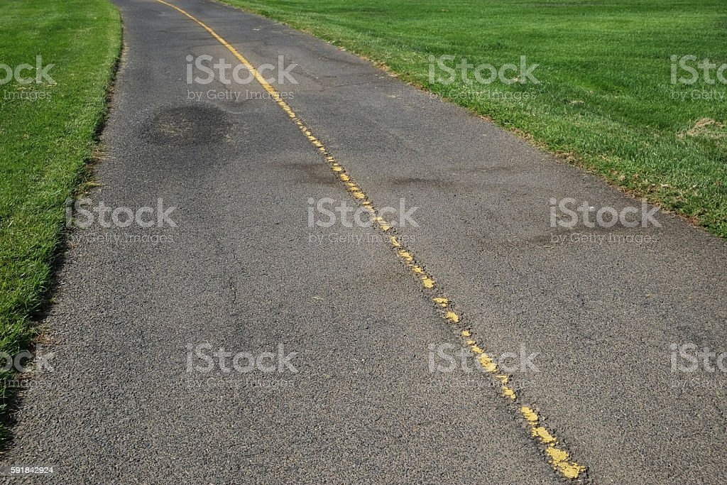 Cycling Trail  in California stock photo