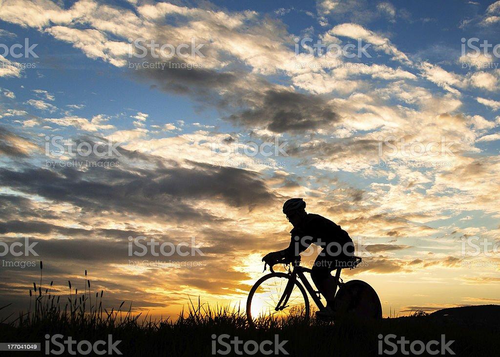 Cycling triathlete stock photo
