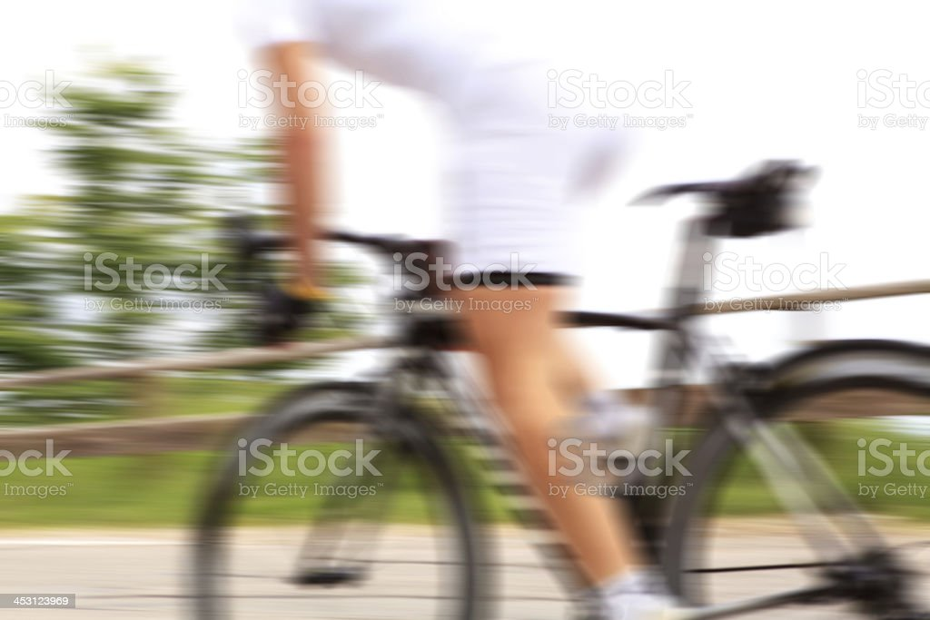 Cyclist, blurred motion. royalty-free stock photo