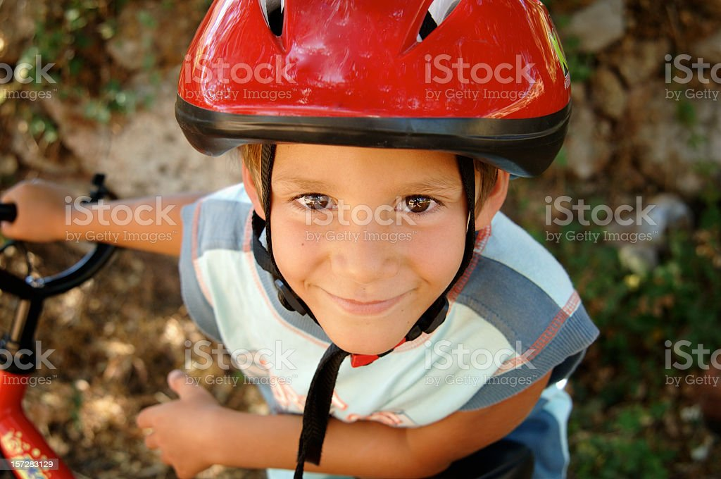Cyclist boy royalty-free stock photo