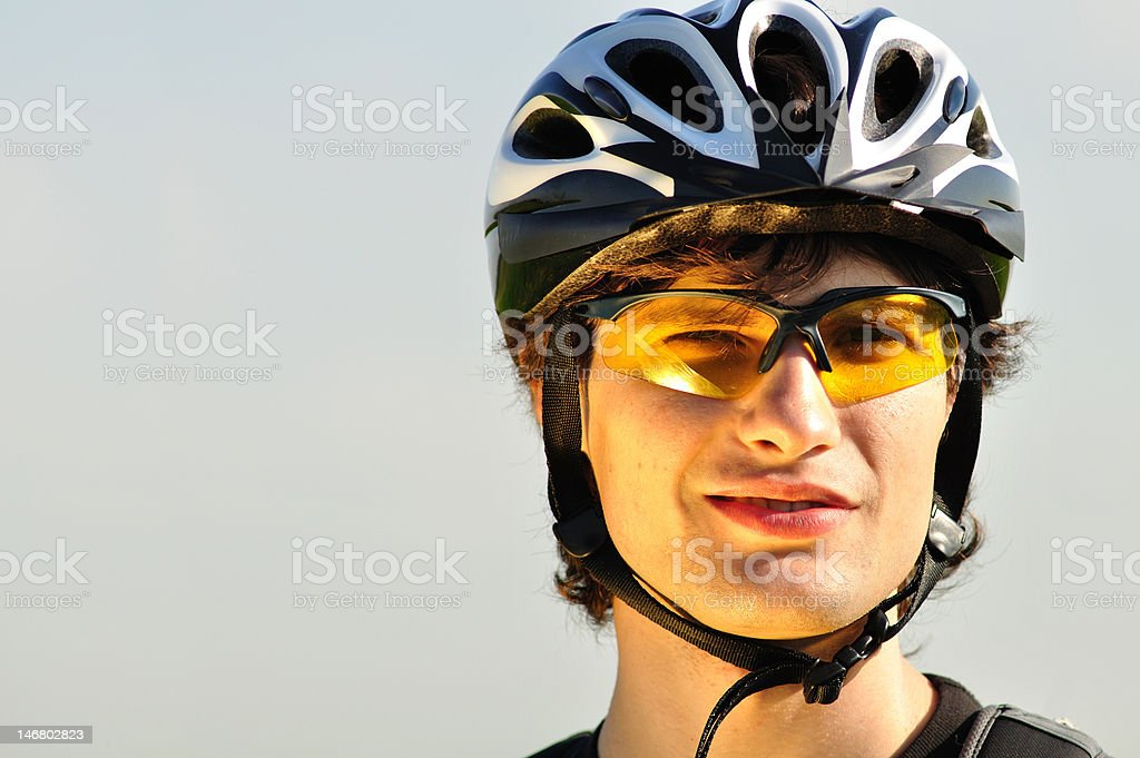 Radfahrer-Nahaufnahme Lizenzfreies stock-foto