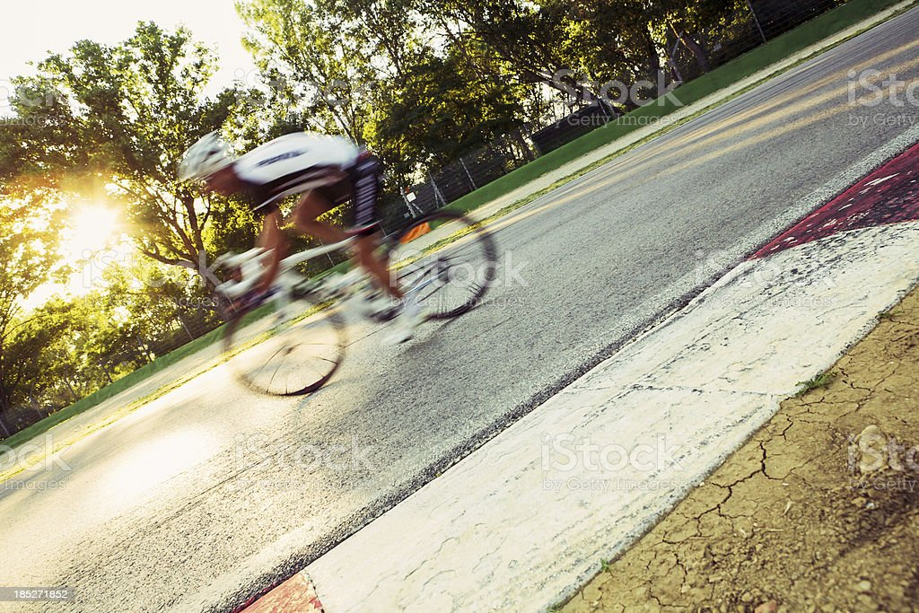 Cyclist in a circuit royalty-free stock photo