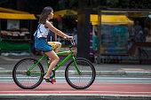 Cyclist in Avenida Paulista SP.