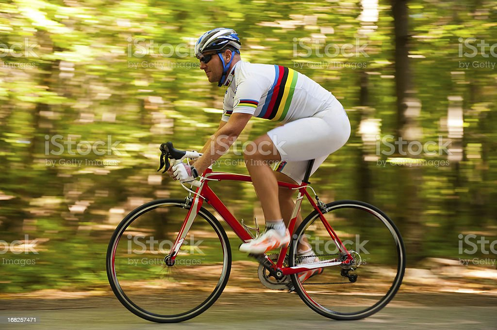 Cyclist in the action stock photo