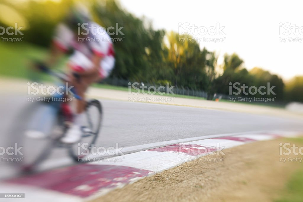 Cyclist in the circuit royalty-free stock photo