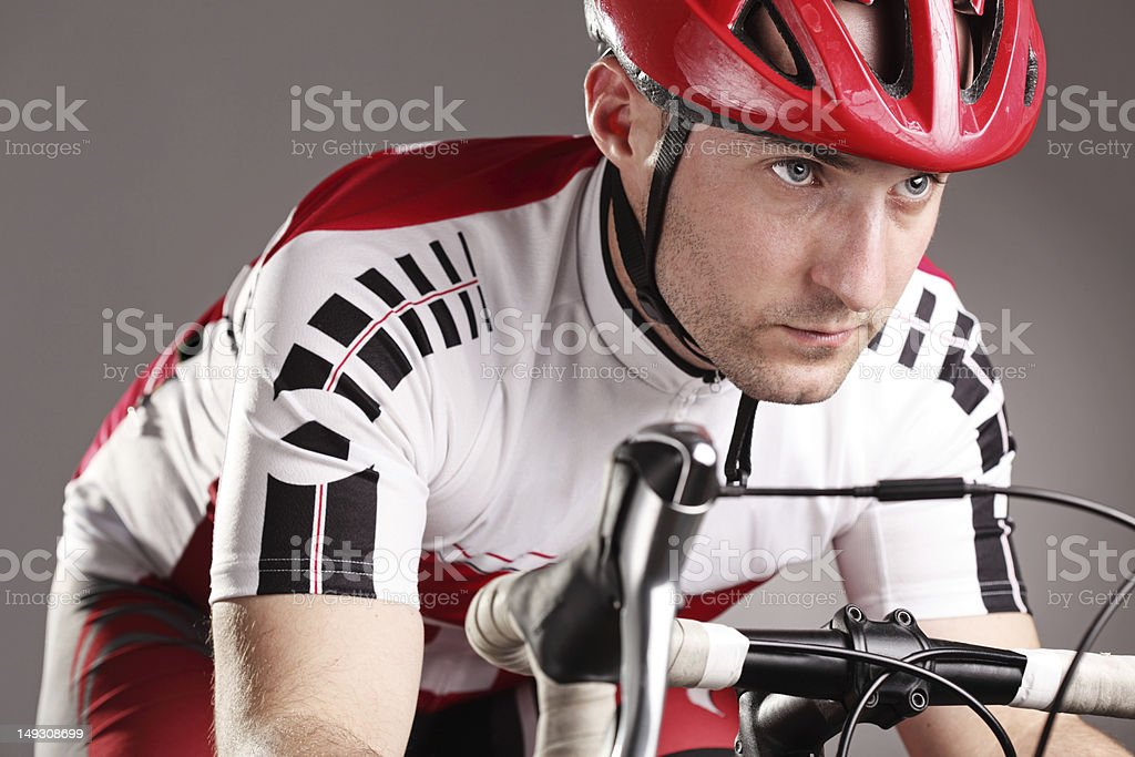cyclist on a bicycle stock photo