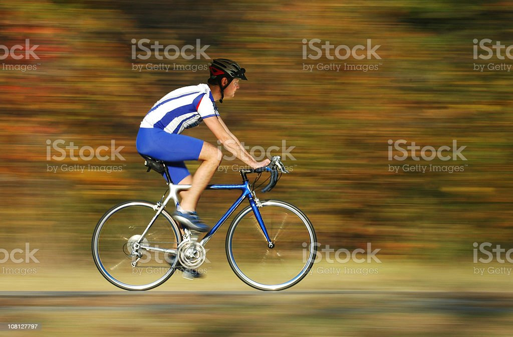Cyclist on the Move royalty-free stock photo