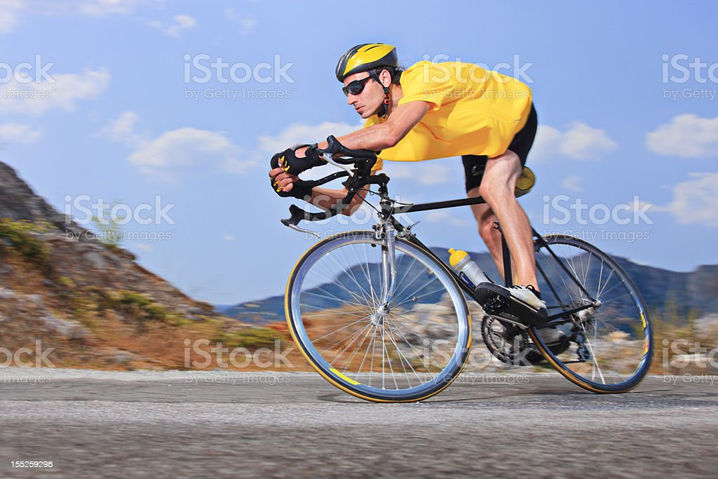 Cyclist royalty-free stock photo