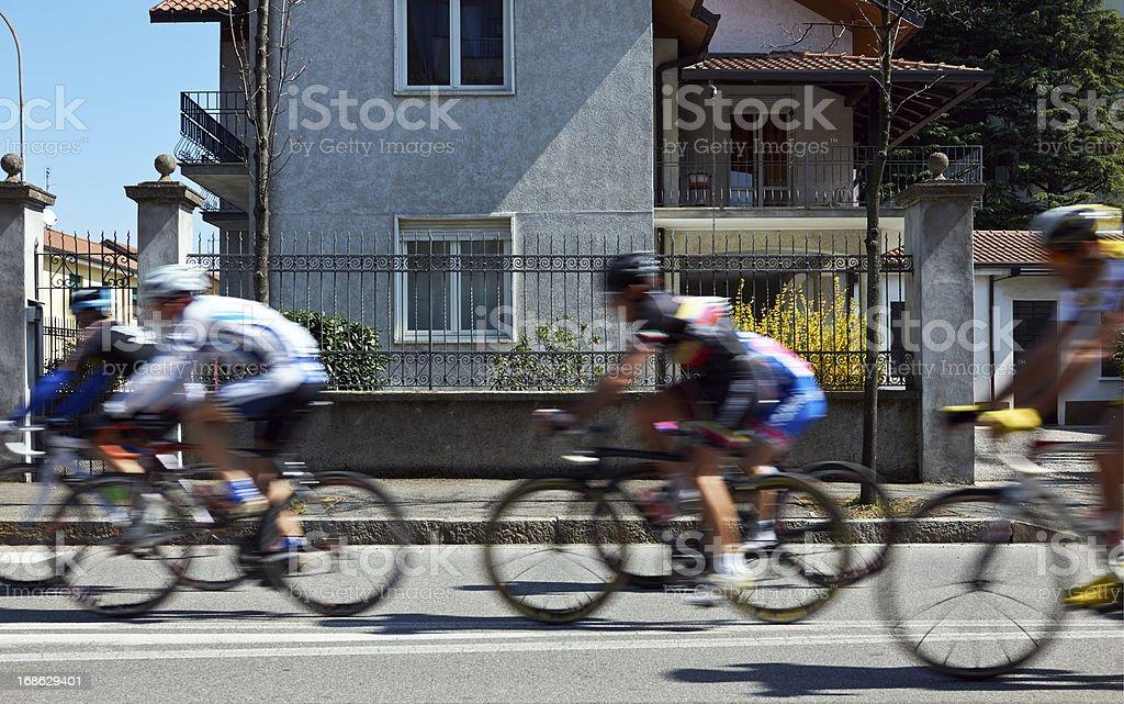 Cyclist Race. Color Image stock photo
