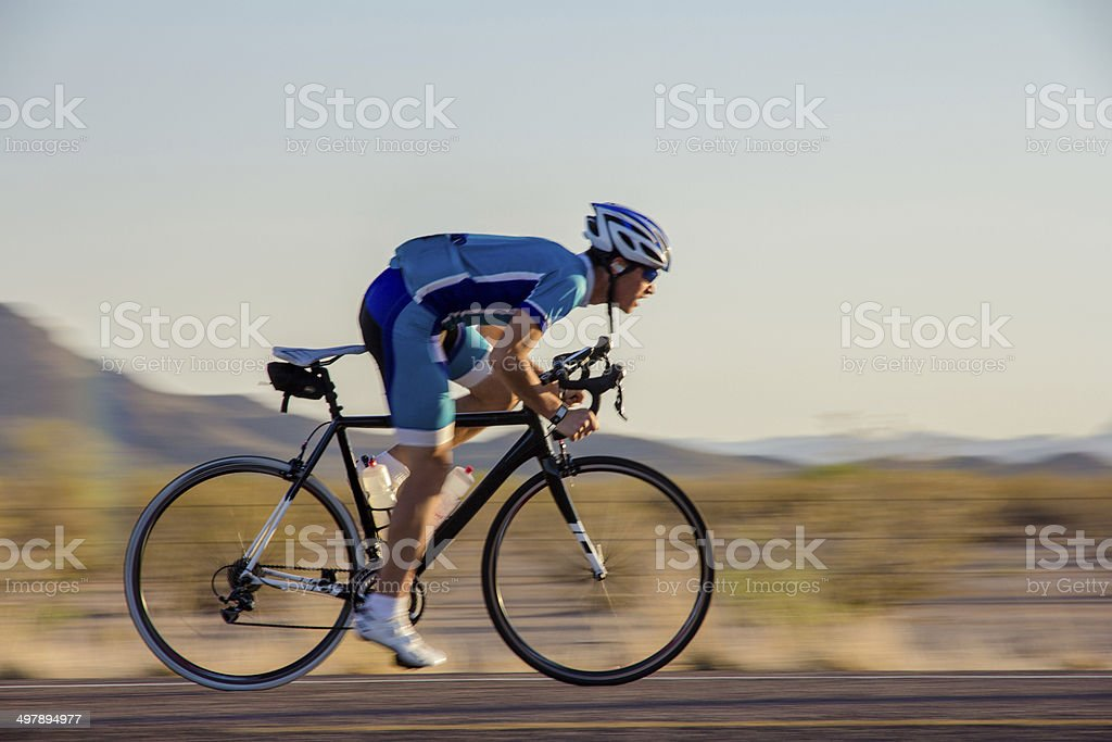 Cyclist Sprinting stock photo