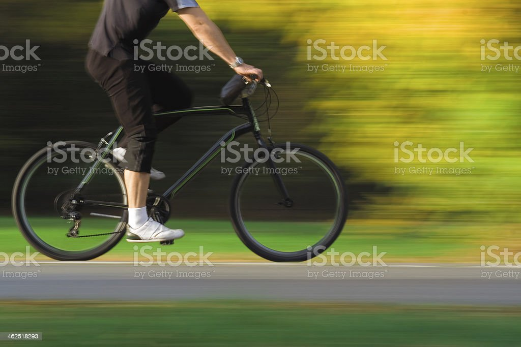 Cyclist Touring stock photo
