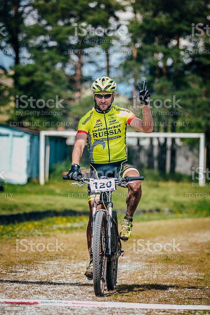 레이스 cyclist 원 royalty-free 스톡 사진
