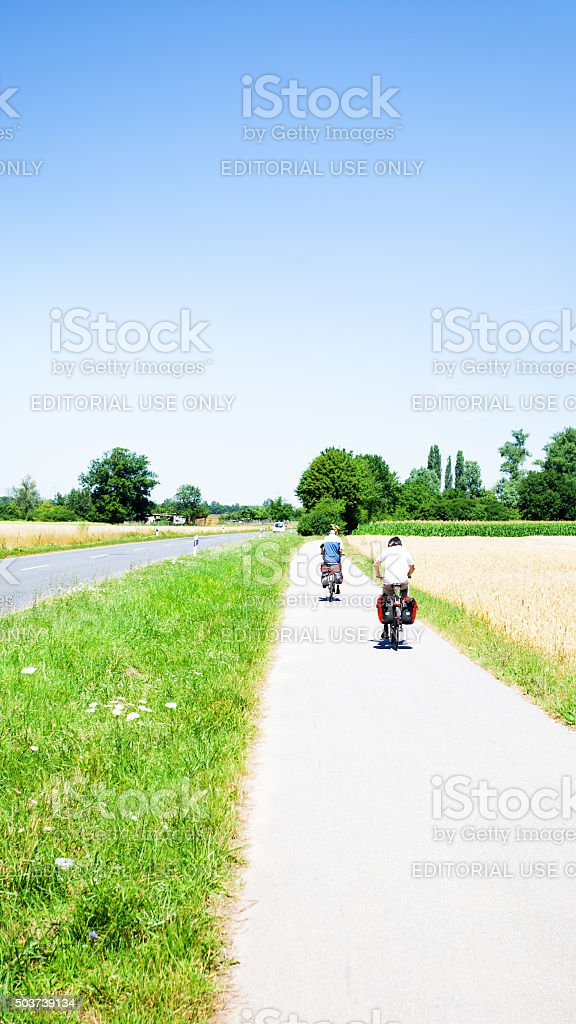 Cyclist in Baden-Württemberg stock photo