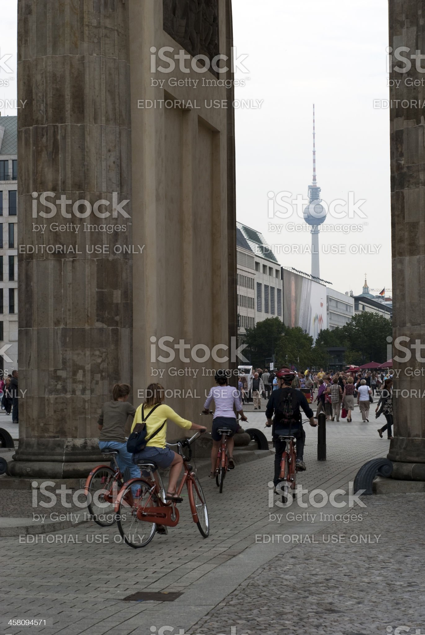Cyclists in Berlin royalty-free stock photo