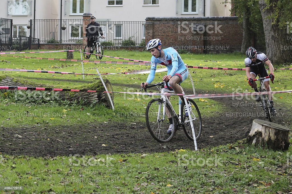 Cyclists in Rapha 2013 Super Cross Elite Race Competition royalty-free stock photo