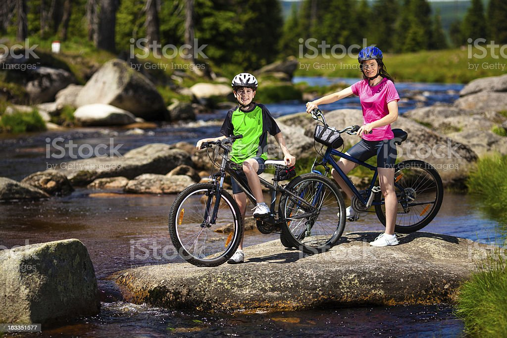 Cyclists royalty-free stock photo
