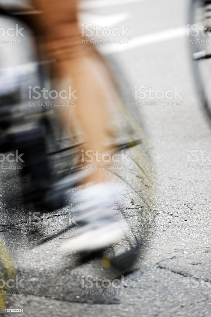 Cyclists Race. Color Image royalty-free stock photo