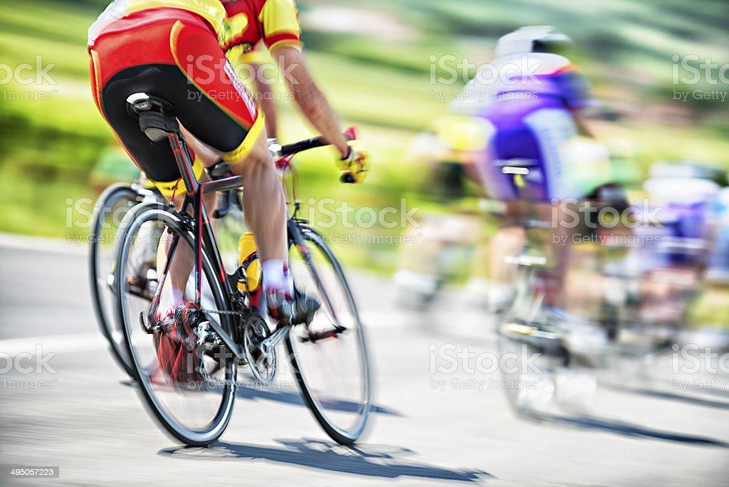 Cyclists Race stock photo