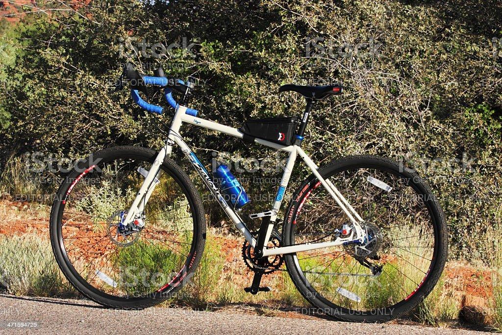 Cyclo-Cross Bicycle Chassis Profile stock photo