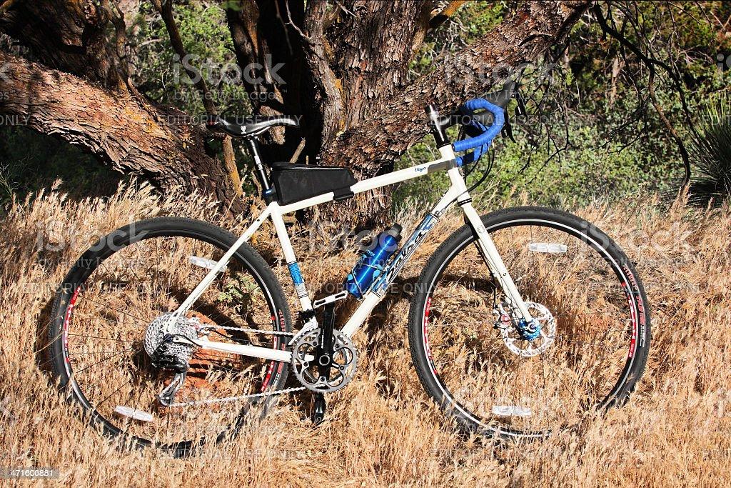 Cyclo-Cross Bicycle Frame Profile stock photo