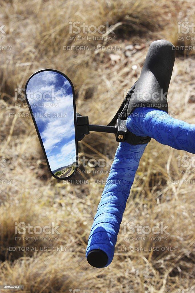 Cyclo-Cross Bicycle Handlebar Mirror stock photo