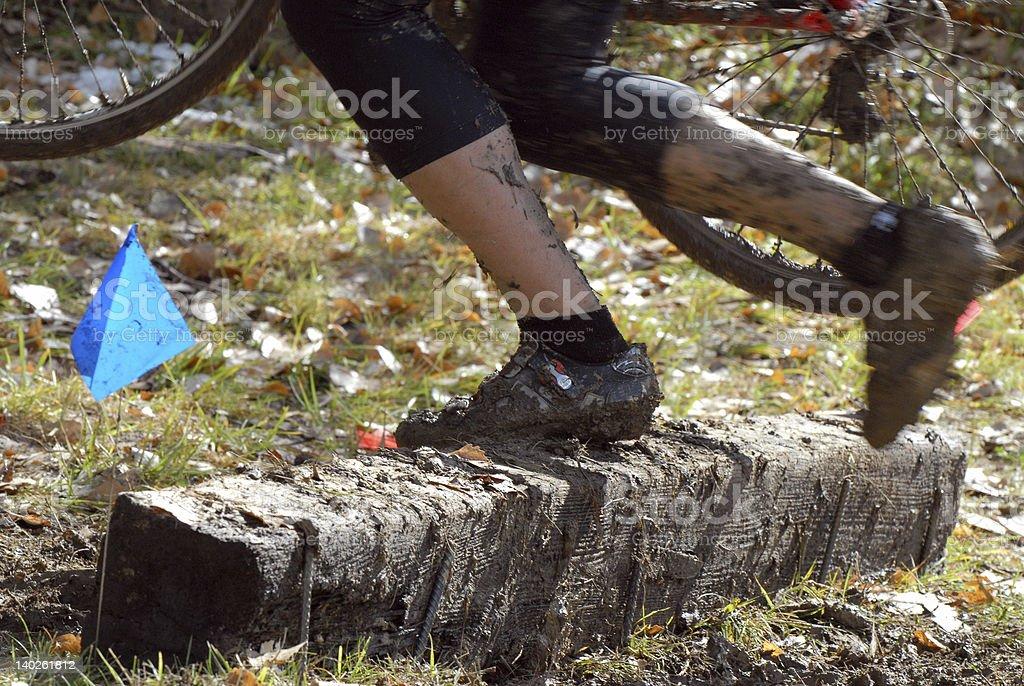 Cyclocross over Tie stock photo