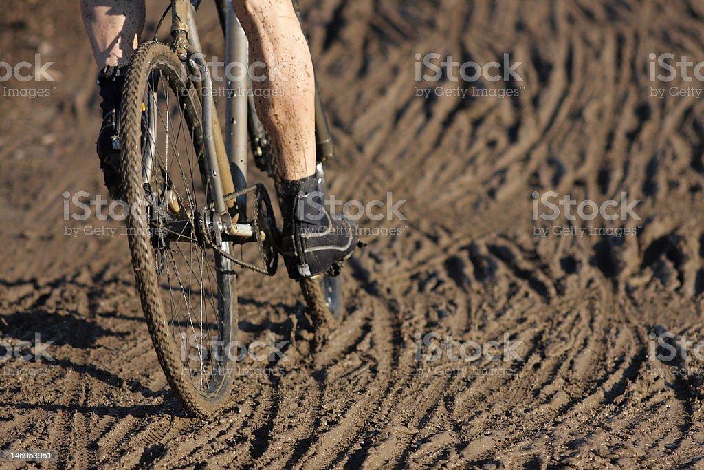 Cyclocross race stock photo