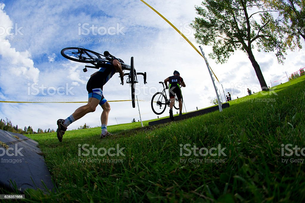 Cyclo-Cross Race stock photo