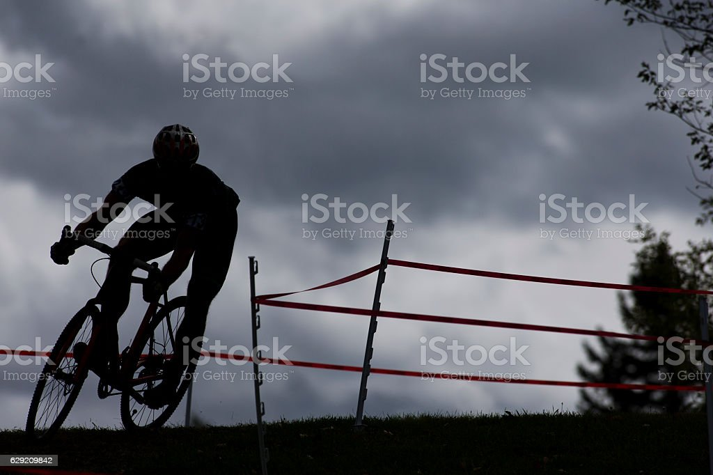 Cyclo-Cross Racer stock photo