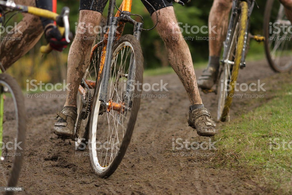 Cyclocross racing stock photo