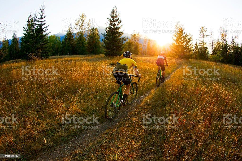 Cyclo-Cross Riders stock photo
