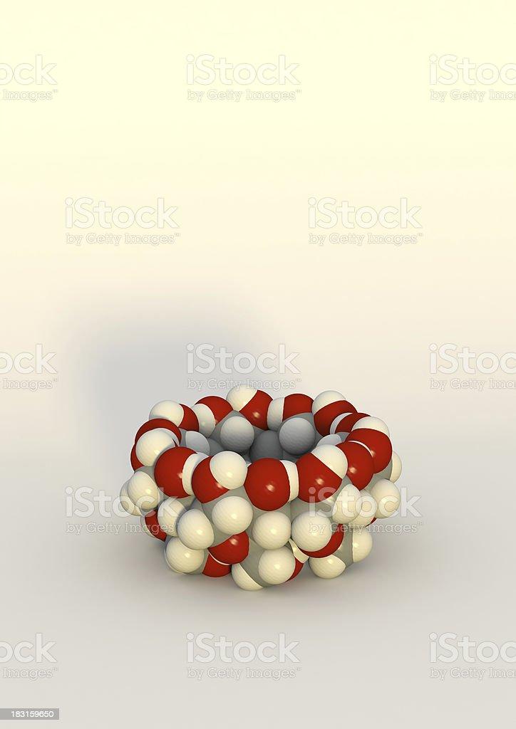 cyclodextrin, molecular receptor royalty-free stock photo