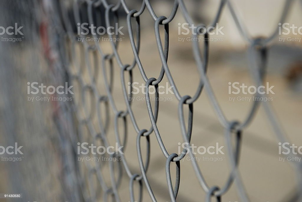 Cyclone Fence stock photo