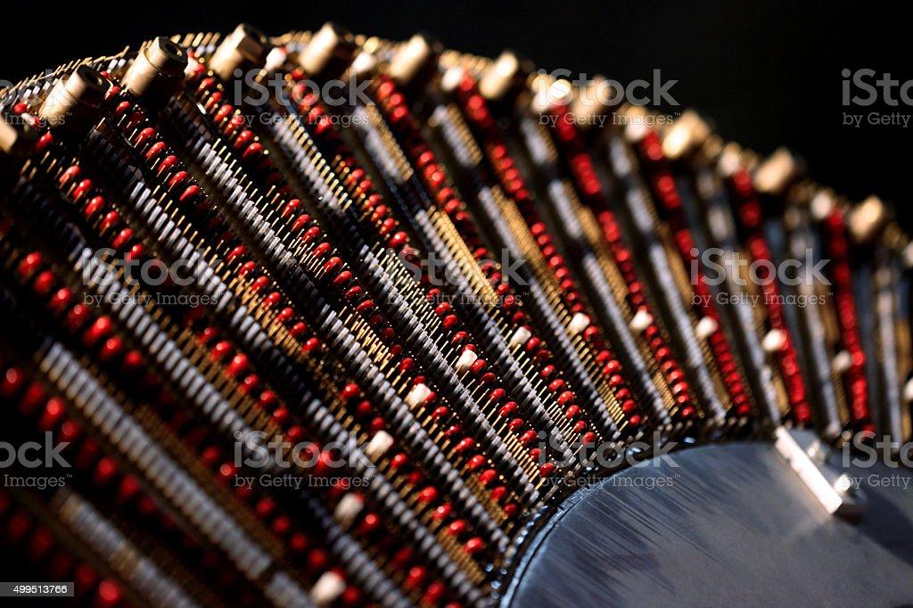 Cyclotron receptors: stock photo
