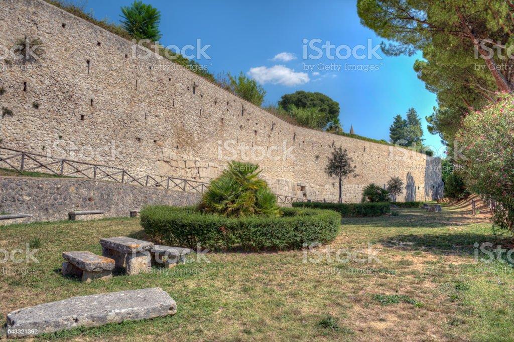 Cycoplean walls in Amelia, Umbria, Italy stock photo