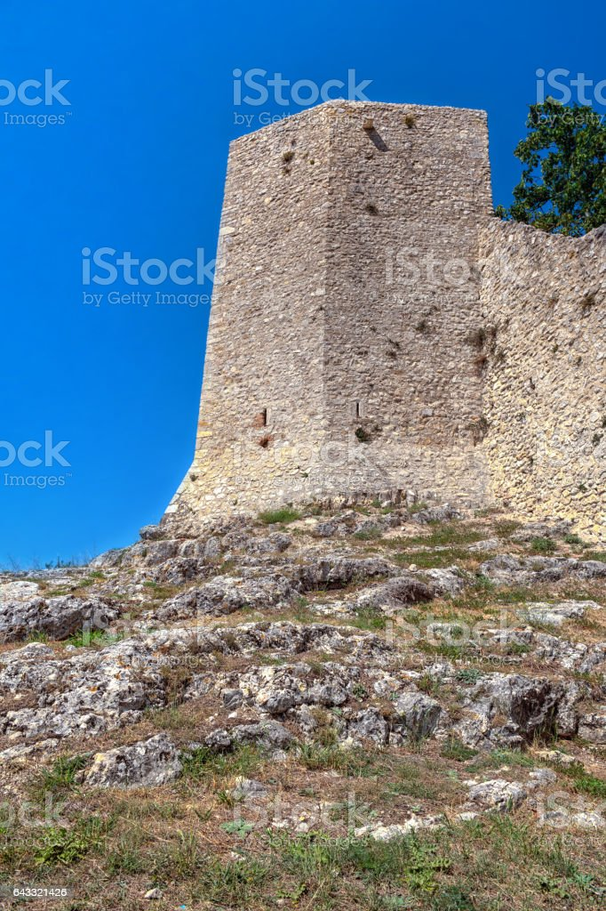 Cycoplean walls in Amelia, Umbria, Italy, tower stock photo