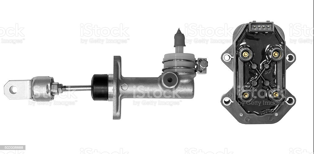 Cylinder clutch and ignition unit stock photo