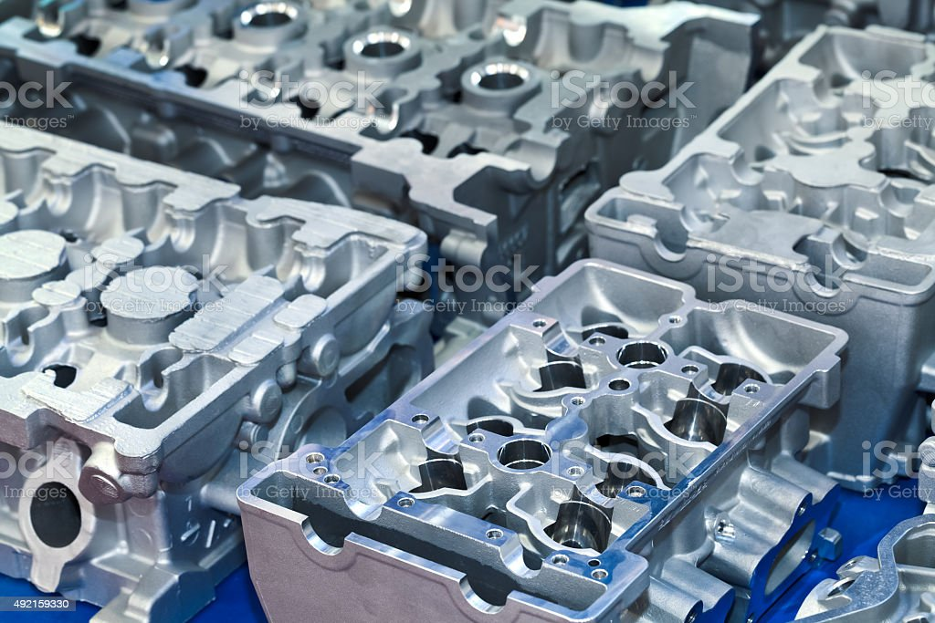 Cylinder head stock photo