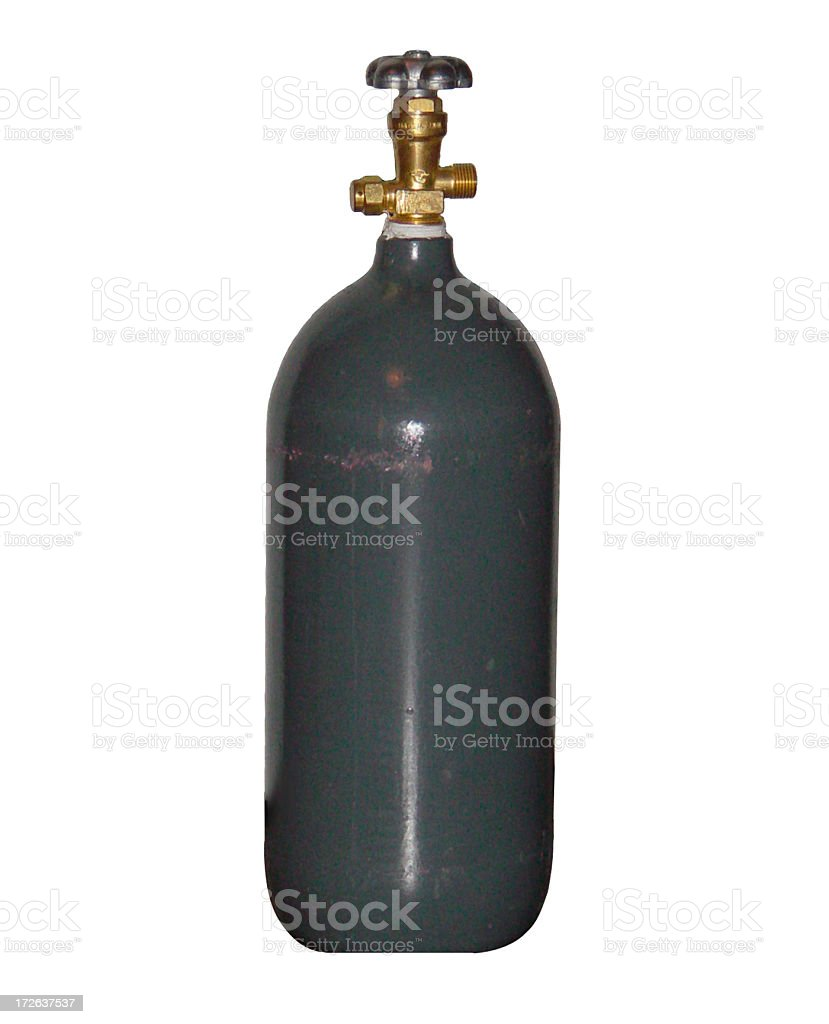 CO2 Cylinder royalty-free stock photo