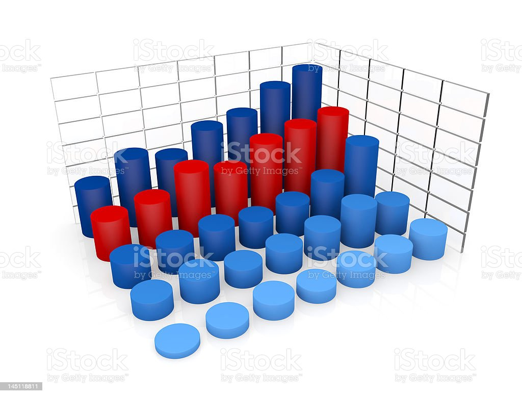 cylinder shaped charts royalty-free stock vector art
