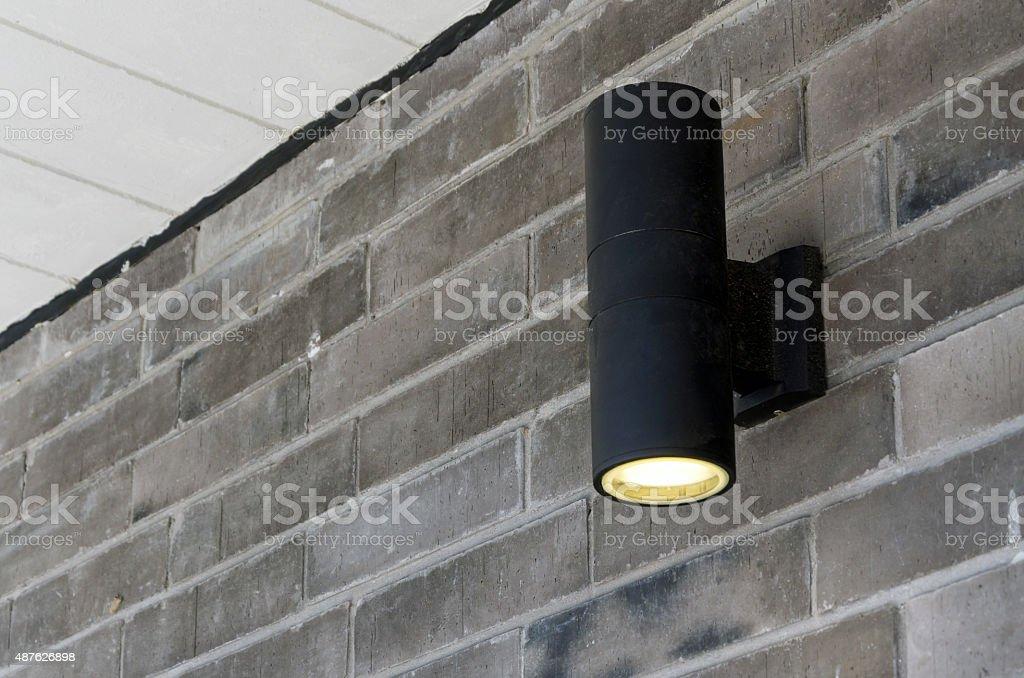 Cylinder wall light stock photo