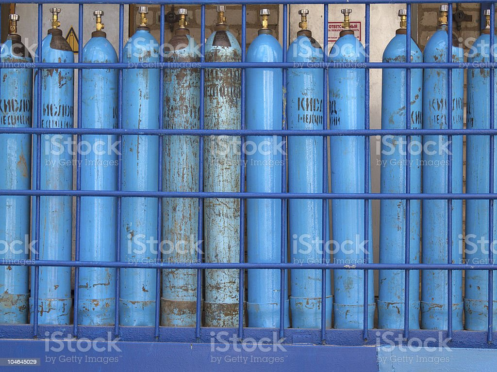 Cylinders  oxygen  medical stock photo