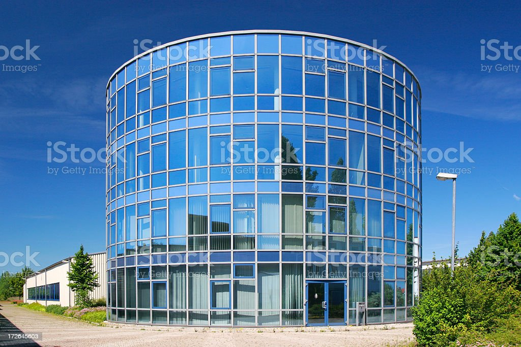 Cylindrical Corporate Building royalty-free stock photo
