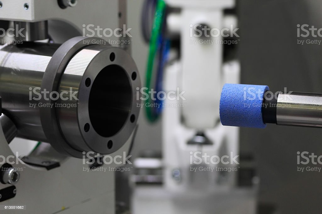 cylindrical grinding machine stock photo