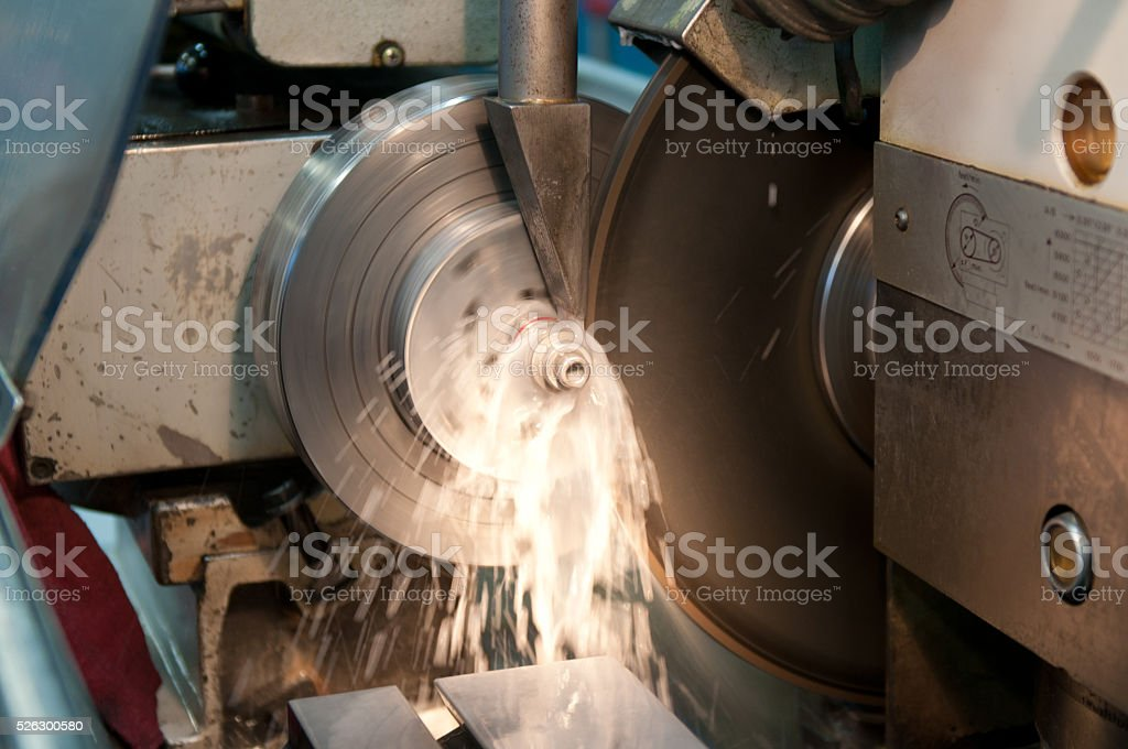 CNC Cylindrical Grinding stock photo