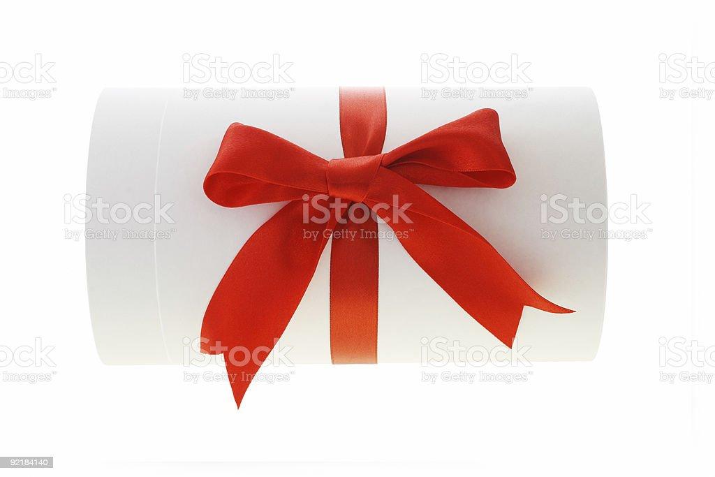 Cylindrical shape gift box royalty-free stock photo