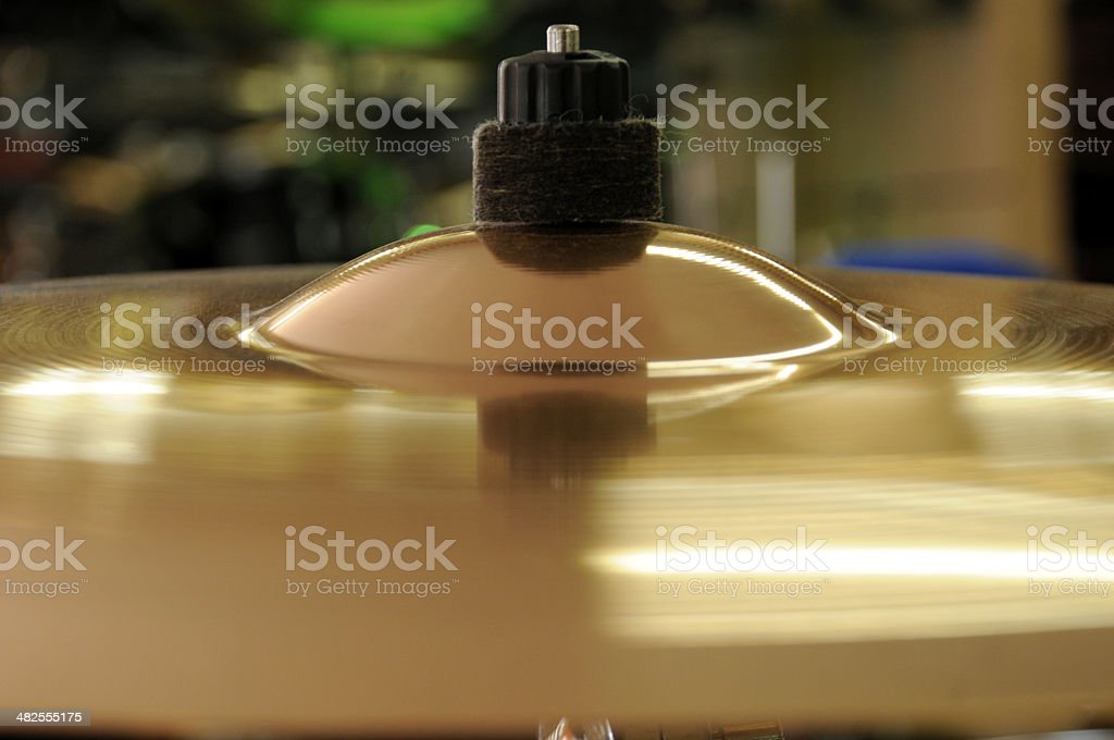 cymbal alone royalty-free stock photo