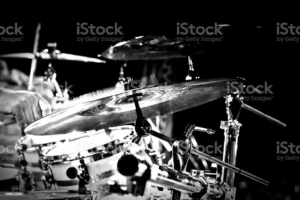 cymbal and drums royalty-free stock photo