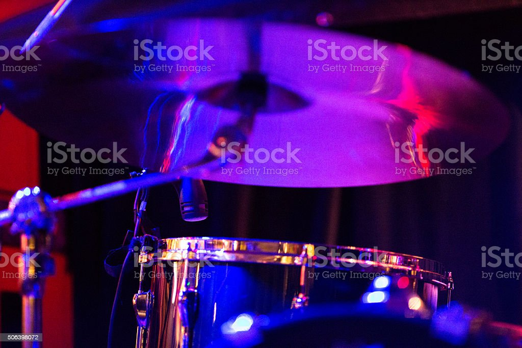 Cymbal and tom stock photo
