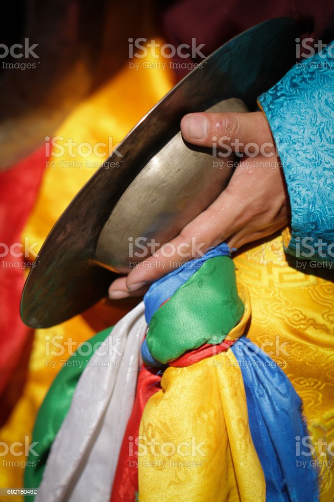 Cymbal at Nadam festival stock photo